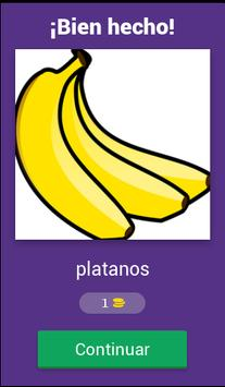 Aprende las frutas y verduras screenshot 1