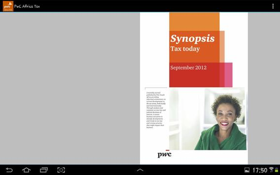PwC Africa TAX screenshot 2