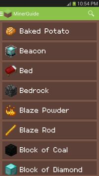 MinerGuide - For Minecraft poster
