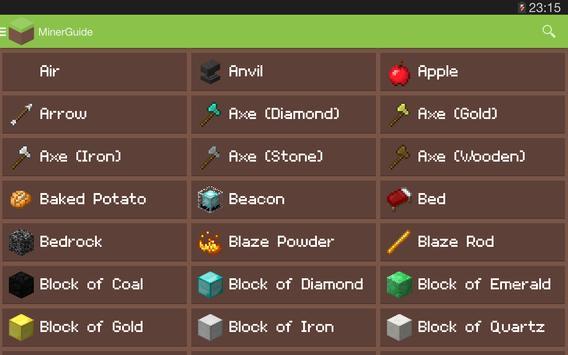 MinerGuide - For Minecraft apk screenshot