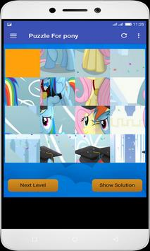 Puzzle For pony poster