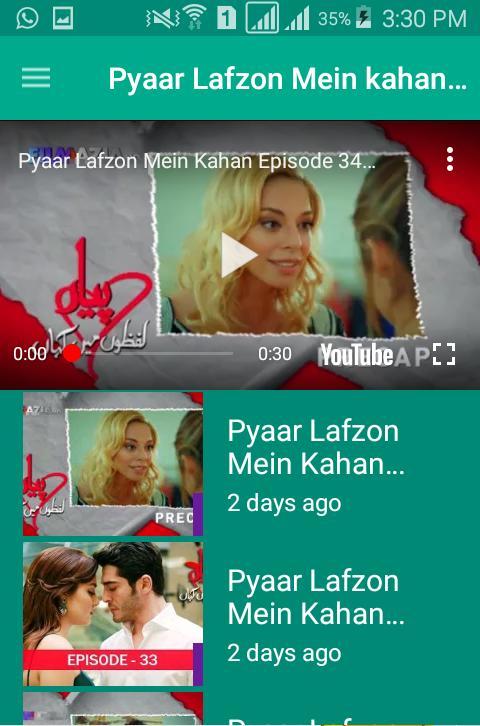 Pyaar Lafzon Mein Kahan All Episode (Urdu & Hindi) for