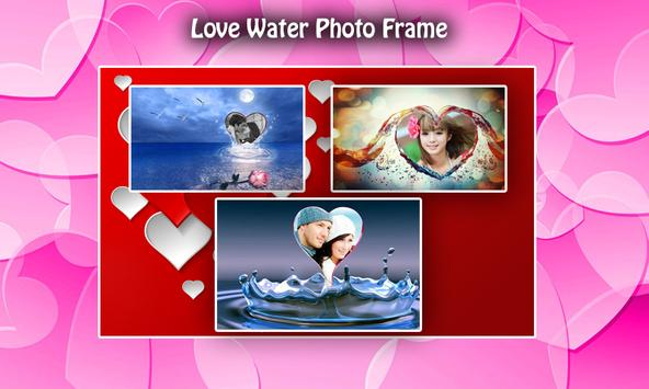 Love Water Photo Frame poster