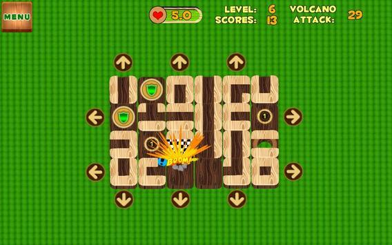 Unblock Maze (Volcano Attack) poster