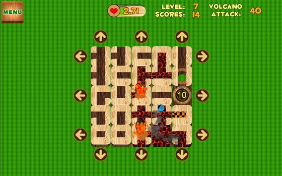Unblock Maze (Volcano Attack) apk screenshot