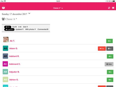 Kidjournal - Digital logbook for Childcare Centers screenshot 4