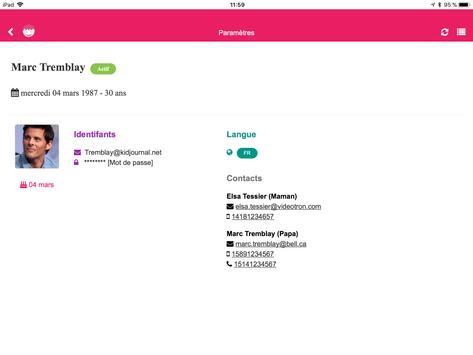 Kidjournal - Digital logbook for Childcare Centers screenshot 7