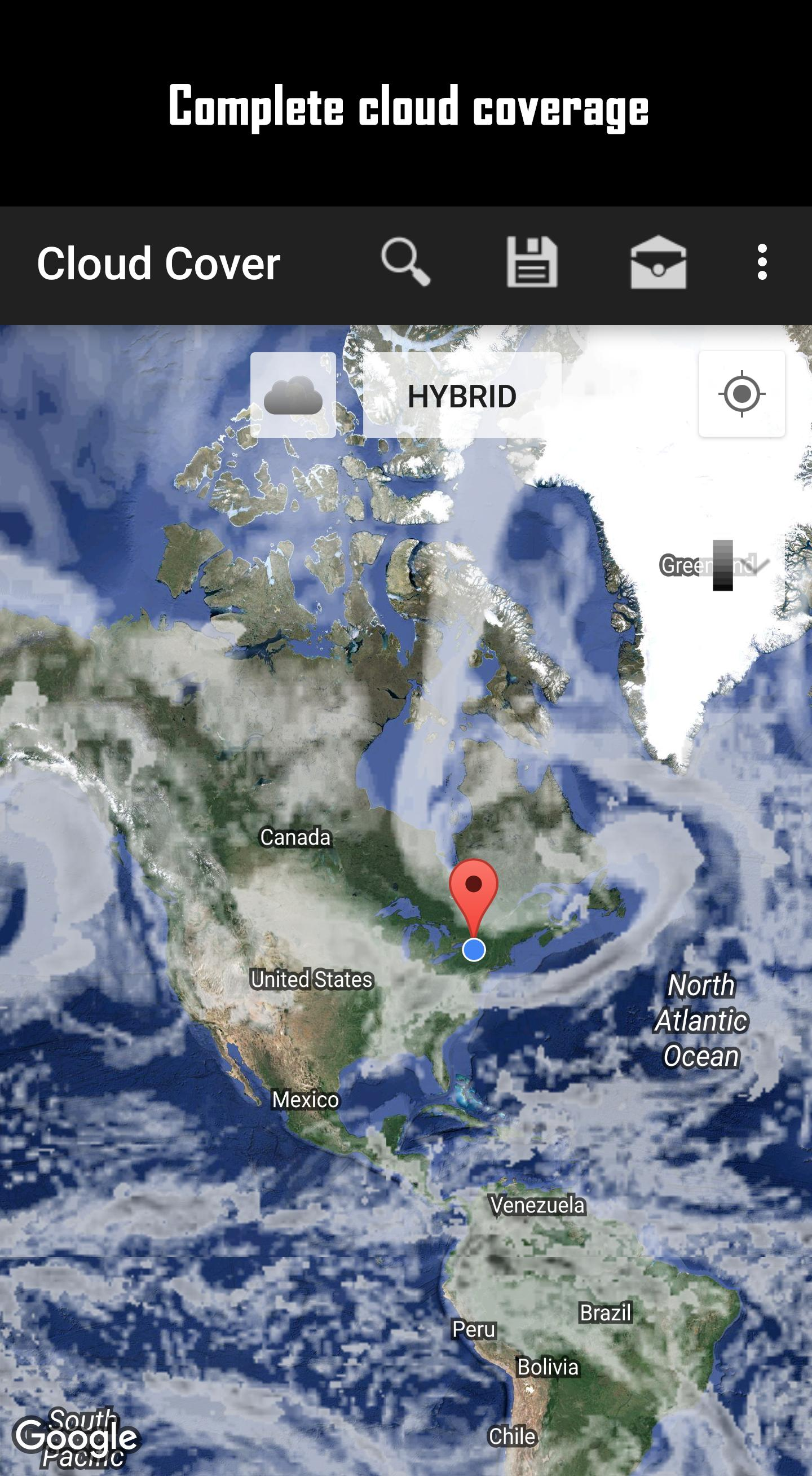 Cloud Cover Map Canada Cloud Cover Map for Android   APK Download