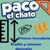 Escalas y números decimales Primero Secundaria icon