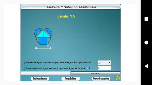 Escalas y números decimales Primero Secundaria poster