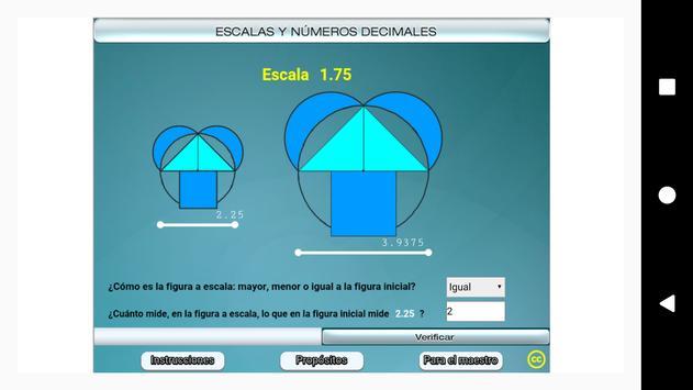 Escalas y números decimales Primero Secundaria screenshot 5