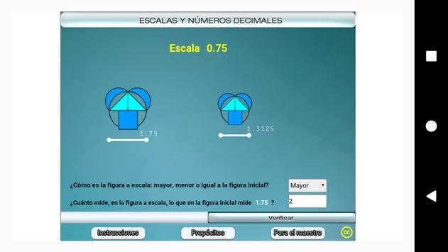 Escalas y números decimales Primero Secundaria screenshot 7