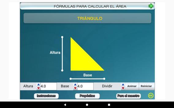 Fórmulas geométricas Primero Secundaria screenshot 12