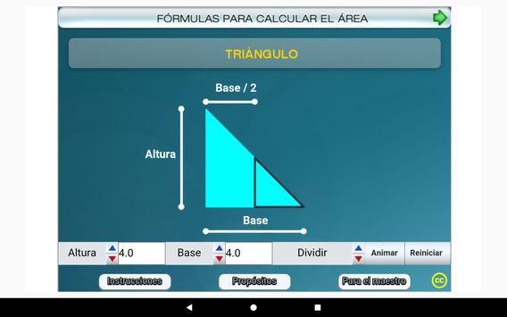 Fórmulas geométricas Primero Secundaria screenshot 13