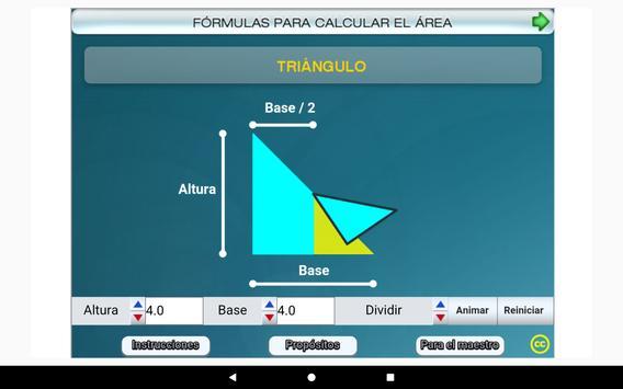 Fórmulas geométricas Primero Secundaria screenshot 14