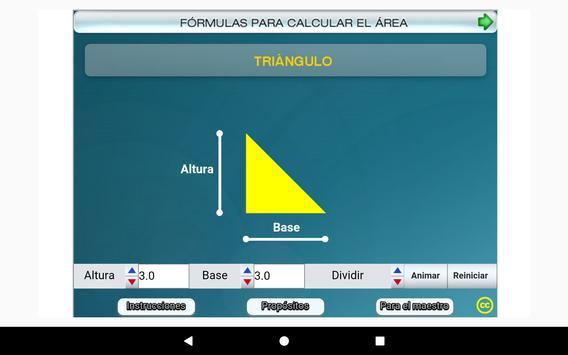 Fórmulas geométricas Primero Secundaria screenshot 16
