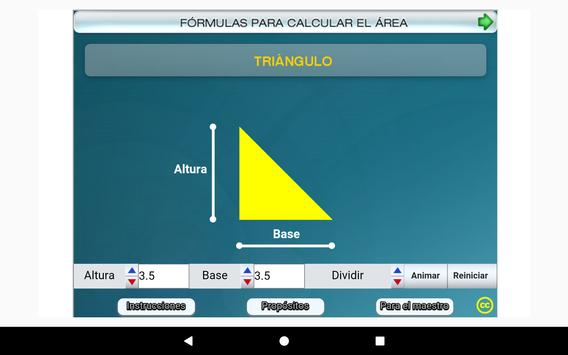 Fórmulas geométricas Primero Secundaria screenshot 20