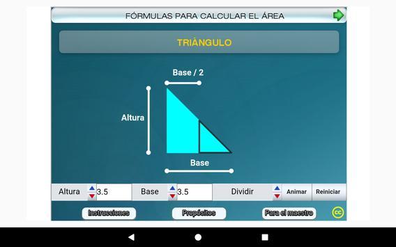 Fórmulas geométricas Primero Secundaria screenshot 21