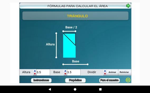Fórmulas geométricas Primero Secundaria screenshot 23