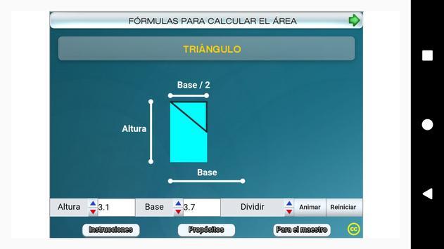 Fórmulas geométricas Primero Secundaria screenshot 7