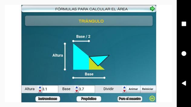 Fórmulas geométricas Primero Secundaria screenshot 6