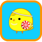 Happy miss chicken icon