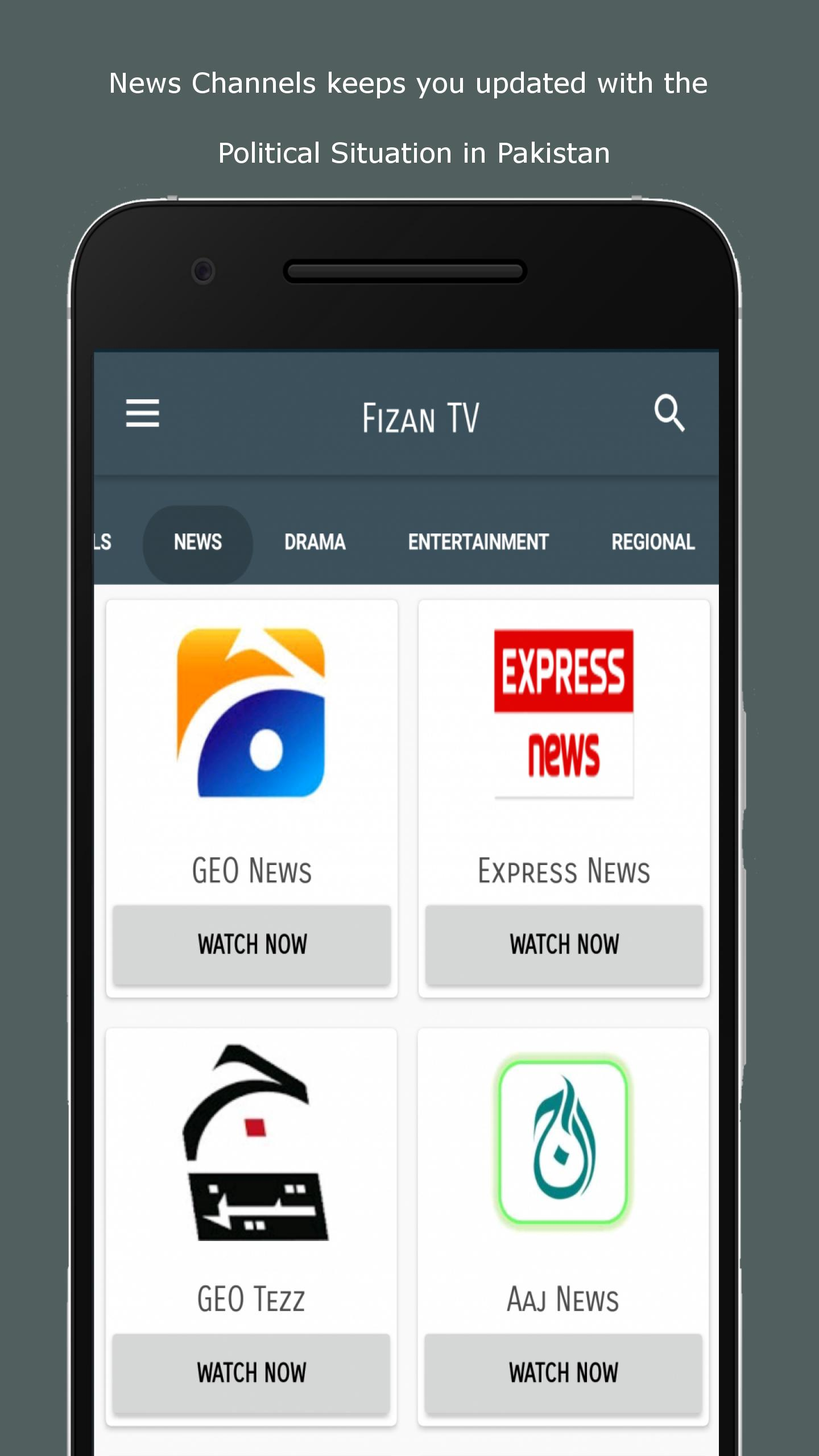 All Pakistani TV Channels Free - Fizan TV for Android - APK