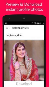 Instant Big Profile apk screenshot