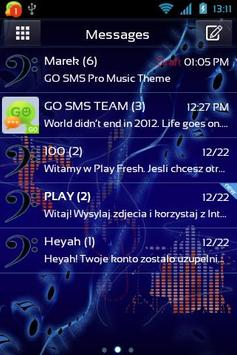 Music Theme for GO SMS Pro poster