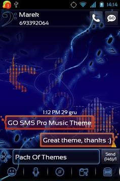 Music Theme for GO SMS Pro screenshot 1
