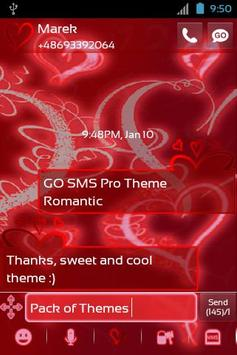Theme Romantic for GO SMS Pro screenshot 1