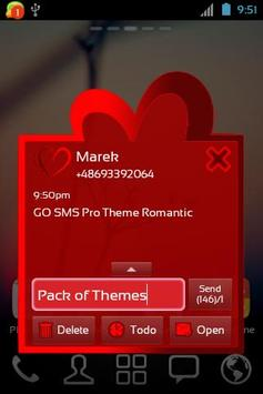 Theme Romantic for GO SMS Pro screenshot 2