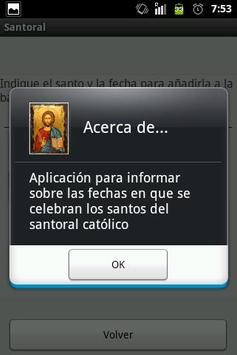 Santoral apk screenshot