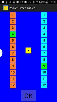 Pocket Times Tables 3.0 apk screenshot