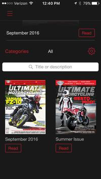Ultimate Motorcycle magazine poster