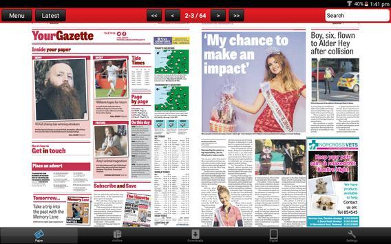 Blackpool Gazette Newspaper apk screenshot