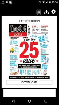 Time Out Doha Magazine poster