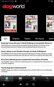 Dog World Newspaper poster