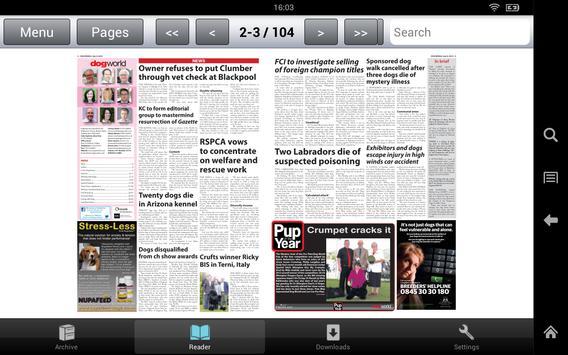 Dog World Newspaper apk screenshot