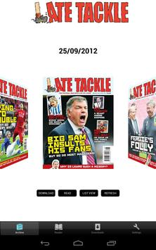 Late Tackle Magazine poster