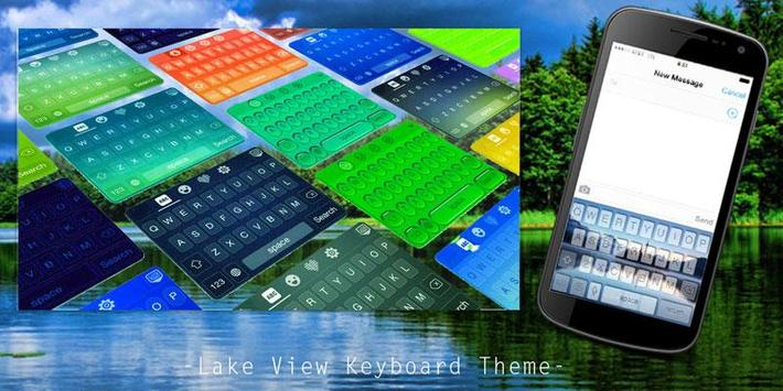 Lake View Keyboard Theme poster