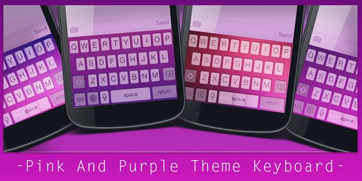 Pink And Purple Theme Keyboard poster