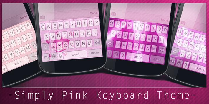 Simply Pink Keyboard Theme poster
