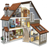 Small Home Design 3D icon