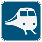 Train stations finder icon