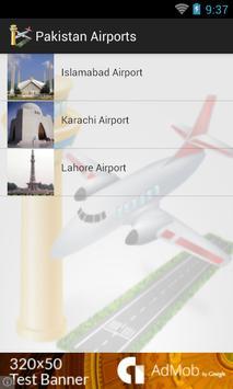 Pakistan Airports Flights poster