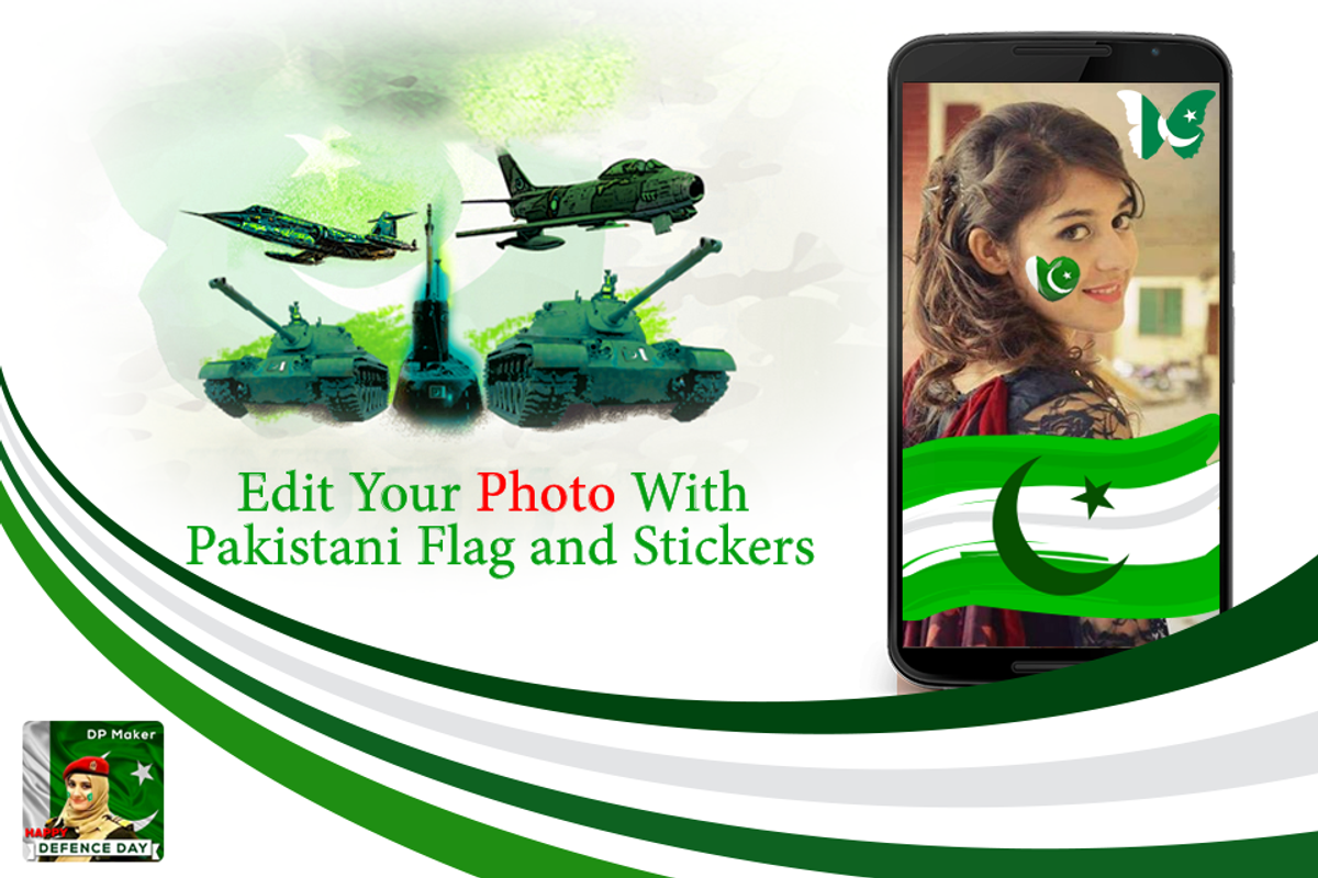 Pakistan defence day dp maker pak flags stickers screenshot 3
