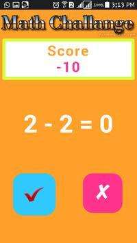 Math Challenge Free screenshot 1