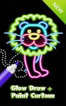 Draw glow simba mattres poster