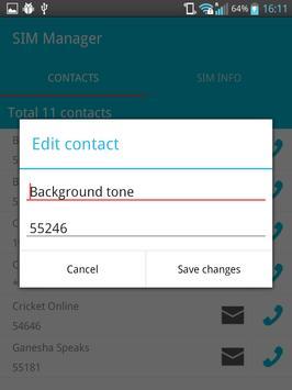 SIM Manager apk screenshot
